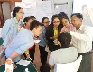 Eye health training for the newly-hired health worker.
